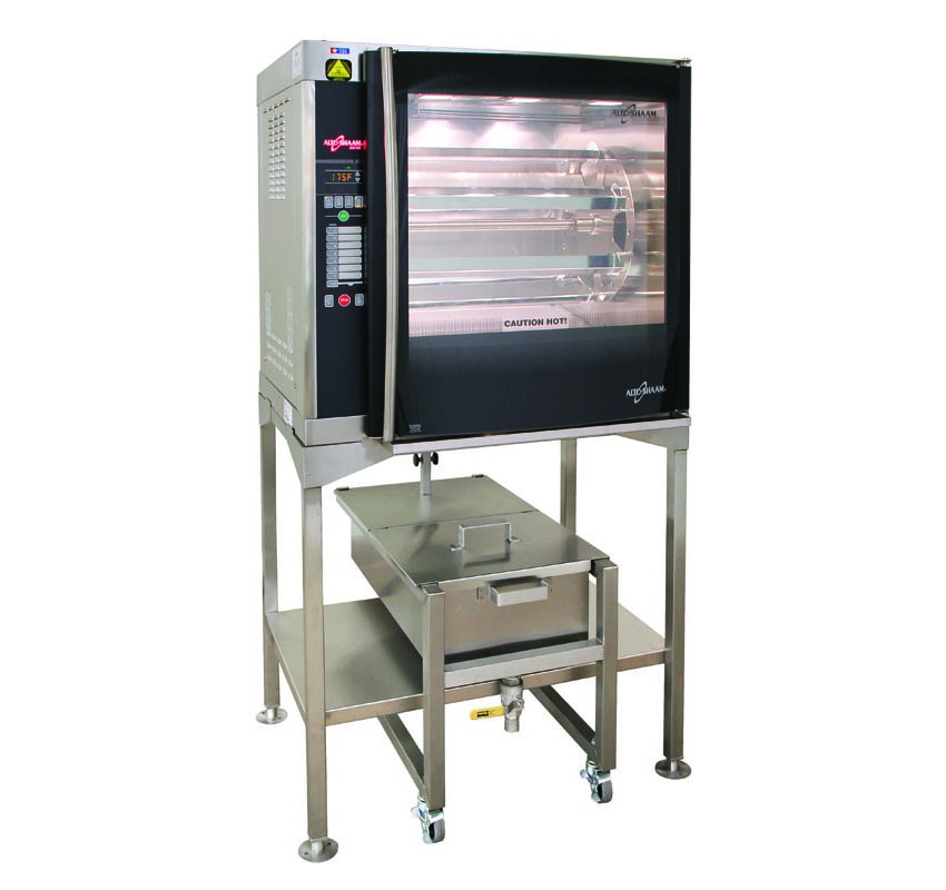 AR-7E-GC Rotisserie Grease Collection Cart