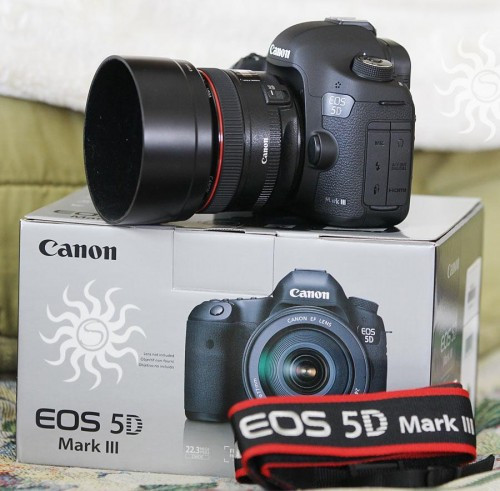 Canon EOS 5D Mark III s objektivem EF 24-105mm IS €1000