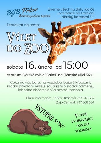 Karneval BJB - Výlet do ZOO
